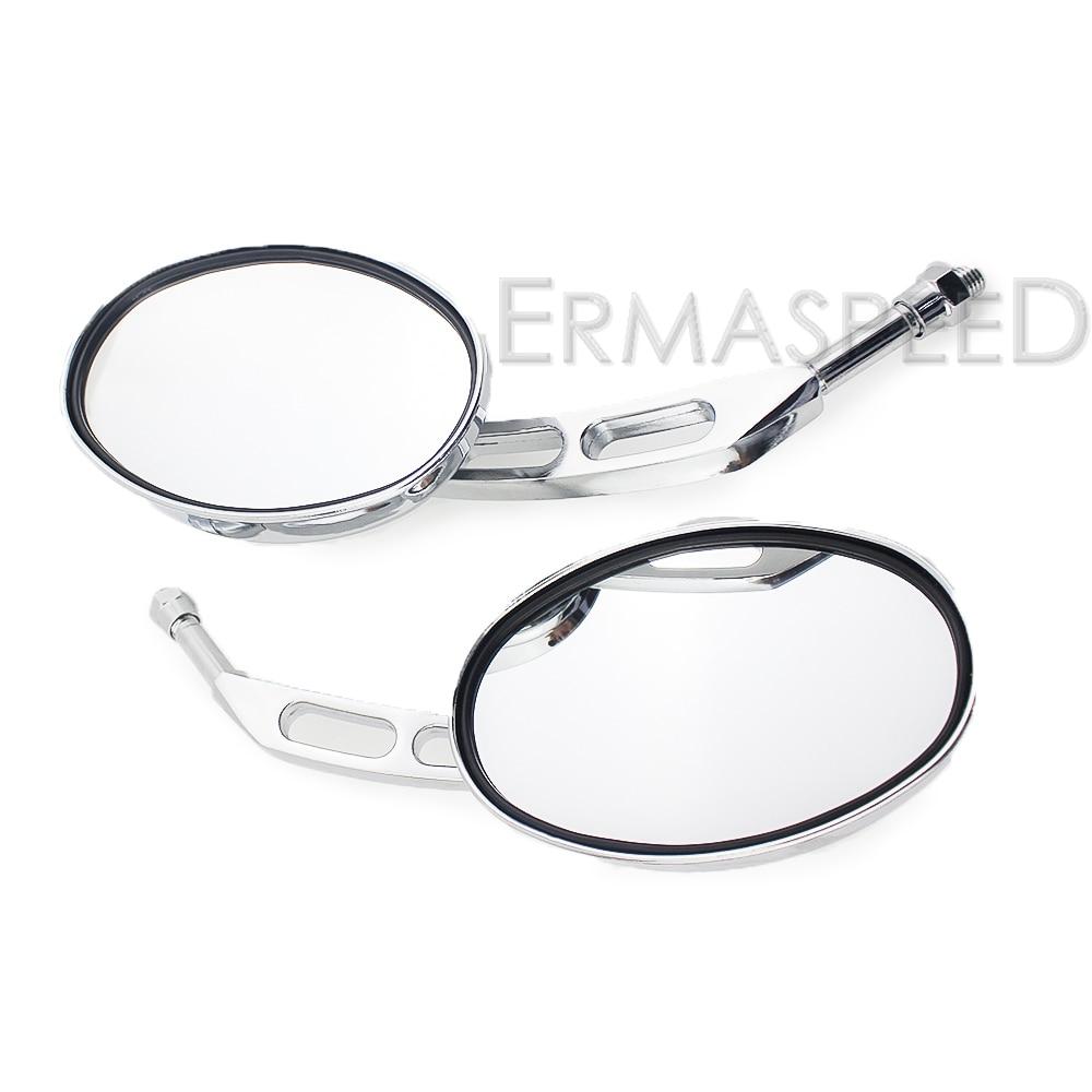 Pair Mirror 10mm Chrome Round Left or Right Kawasaki Z/'s Style