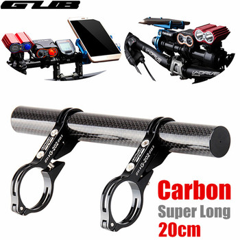 GUB 202 Aluminum Alloy Clamp MTB Bike Handlebar Extender Cycling Mount Bracket with Carbon fiber Bike Mobile phone holder G-202