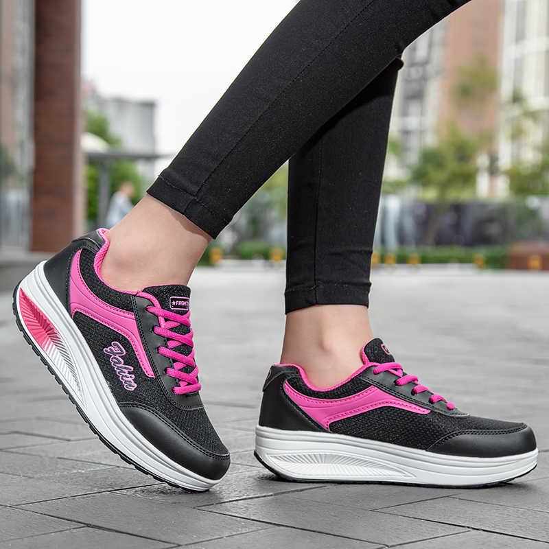 WOLF WHO/Модная женская обувь с сетчатым верхом; женская повседневная обувь с мягкой подошвой; дышащие женские кроссовки 2019 года; обувь с округлой подошвой; N-016