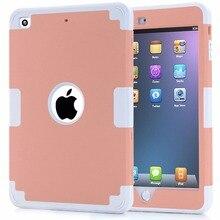 Caso de la cubierta para apple ipad mini 1/2/3 a prueba de choques anti-cero protector de silicona cubierta del estuche rígido para ipad mini