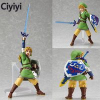 The Legend Of Zelda Link Pvc Figure Action Toy Hot Cake Skyward Sword Display Juguetes Model