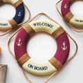 Creative Home The Walls American Style Rural Retro Life Buoy Decoration Red Blue Large