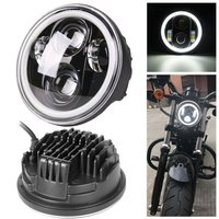 5 3/4 Projector Moto Headlight with White DRL For Indian Scout Harley Motorcycle Wide Glide XL1200 Street 750
