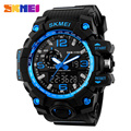 SKMEI Men Sports Watches Top Quality Wateproof Men Quartz Digital Military Watch Casual Outdoor LED Wristwatches Black Red Gold