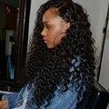 360 de Encaje Frontal Pelucas 180% Densidad Pelucas Llenas Del Cordón Del Pelo Humano para Mujeres Negro Brasileño de la Virgen Profunda Del Pelo Rizado de la Onda 360 de Encaje pelucas