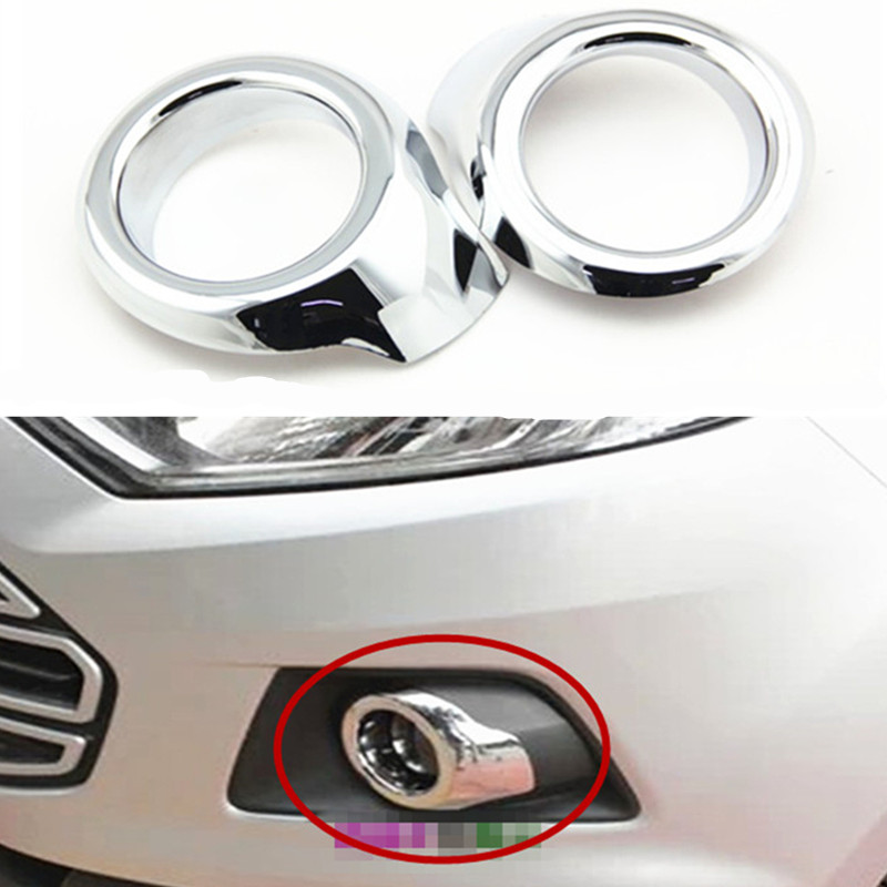 For FORD ECOSPORT 2013 2014 2015 2016 car  accessories front fog lamp cover head fog light cover trim abs chrome 2pcs per set
