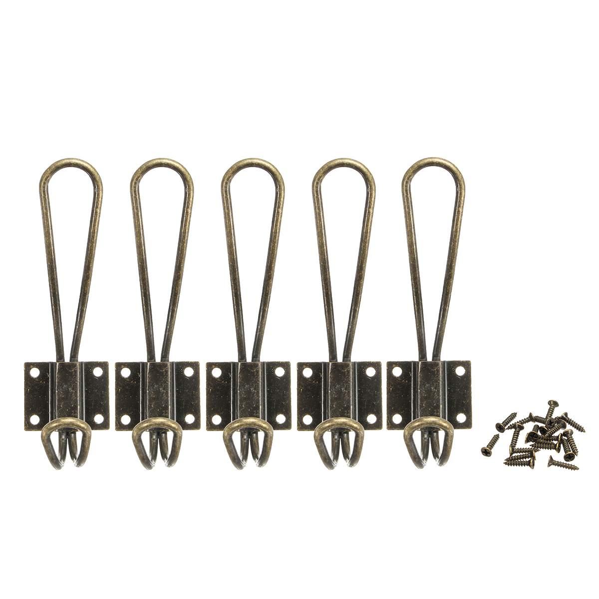 Ganchos de Pared 10 Pzs Colgador Perchero de Pared Metalicos Vintage con Tornillos para Colgar Ropa//Abrigo//Bufanda//Bolsa//Toalla//Llave//Sombrero Negro