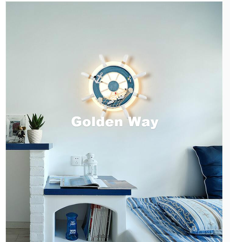 Modern Lighthouse Modern Sconce Wall Lights D33cm LED Wall Lamp Children Room Kids Wall Led Lamp Mounted Bedside Lamps Free Ship hghomeart sconce wall lights led e27 pink bedside lamp kids room wall lamp for the bedroom wall mounted bedside reading lamps