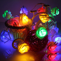 Novelty Rose Floral Fairy String Lights 5M 40 Leds Powered By AA Battery Fashion Holiday Lighting