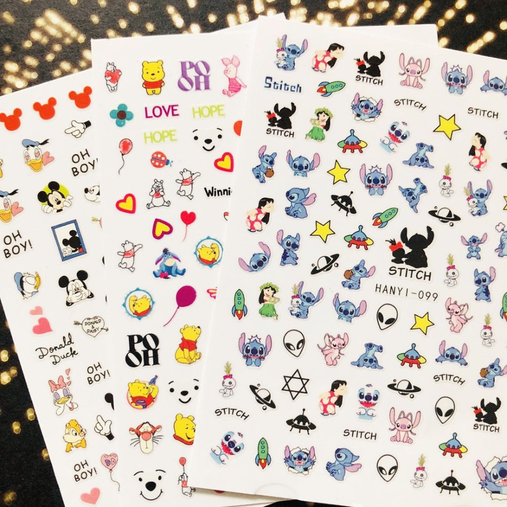 Hanyi series sakura flower HANYI 99 princess  3d nail art stickers decal template diy nail tool decorations-in Stickers & Decals from Beauty & Health