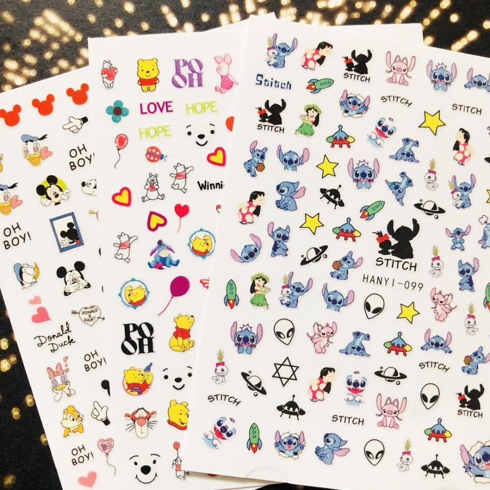 Hanyi Series Sakura Flower HANYI-99 Princess  3d Nail Art Stickers Decal Template Diy Nail Tool Decorations