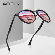 AOFLY di DISEGNO di MARCA Classic occhiali da sole Polarizzati Occhiali Da Sole Da Uomo Vintage Occhiali Da Sole di Guida Delle Donne UV400 Oculos Masculino AF8116