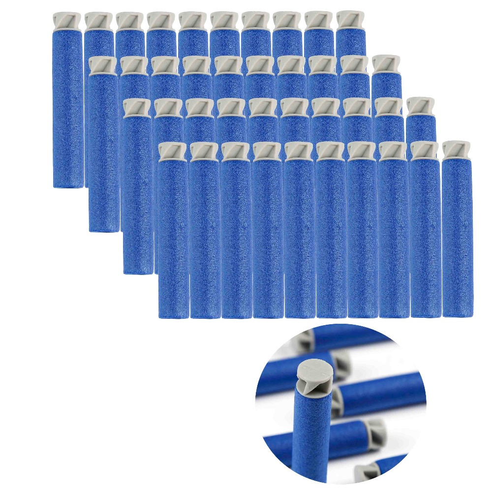 100pcs Soft Bullet Flat Soft Head Foam Bullets For Nerf N-strike Elite Series Hot Sale