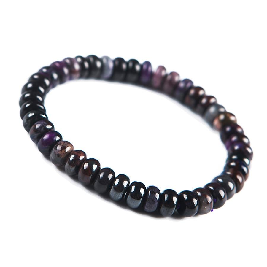Genuine South African Purple Natural Sugilite Bracelets Women Charm Round Crystal Bead Stretch Bracelet 6-8mm все цены
