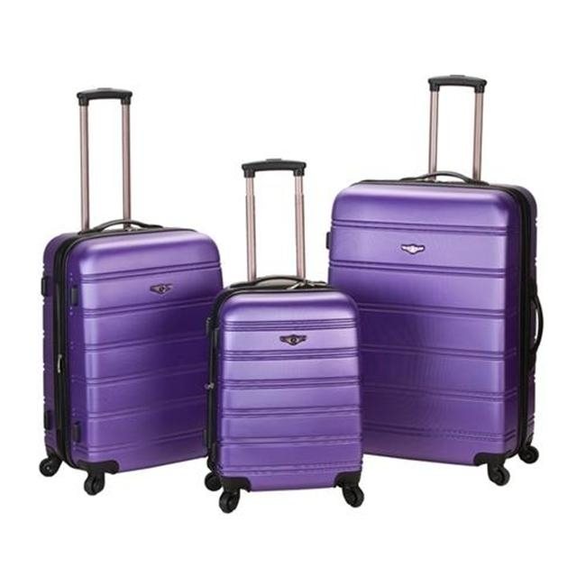 ROCKLAND F160-PURPLE MELBOURNE 3 PC ABS LUGGAGE SET migos melbourne