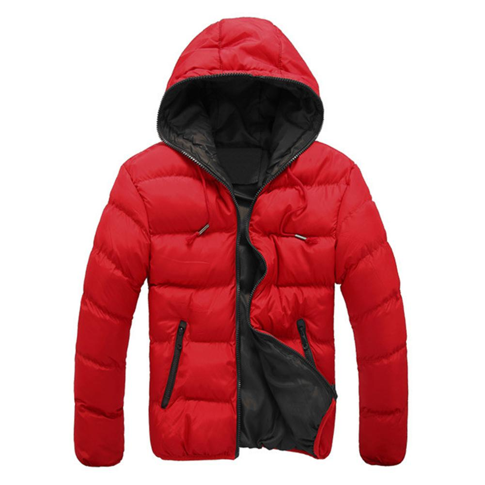 Fashion Men Winter Warm   Parka   Jacket Hooded Slim Fit Zipper Long Sleeve Coat hip hop