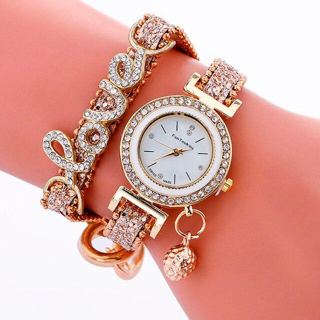 c025e57ec0c Relogio feminino Moda Pulseira de Relógio de Quartzo relógio de Pulso Das  Senhoras Das Mulheres PU