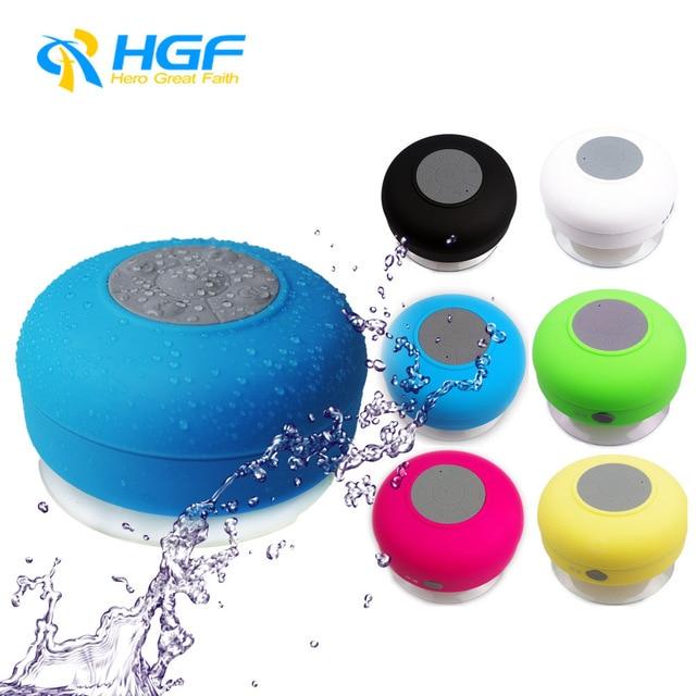 Caliente venta portátil impermeable ducha altavoz inalámbrico Bluetooth manos libres para coche recibir llamadas y música de succión de teléfono Mic