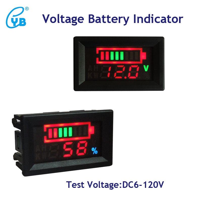 DC6-120V Car Volt Panel Meter Bettery Charge Indicator Digit Display Voltmeter
