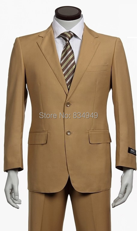 Aliexpress.com : Buy Light Brown Khaki Wedding Suits For Men ...
