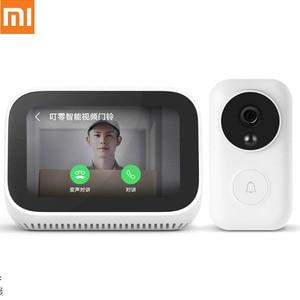 Image 1 - Original Xiaomi AI หน้าสัมผัสหน้าจอบลูทูธ 5.0 ลำโพงดิจิตอลนาฬิกาปลุก WiFi การเชื่อมต่อสมาร์ทวิดีโอ