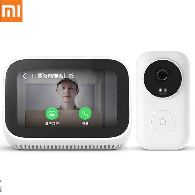 Originele Xiaomi AI Gezicht Touch Screen Bluetooth 5.0 Speaker Digitale Display Wekker WiFi Smart Connection met Video deurbel