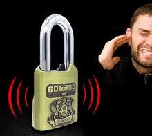 Smart alarm lock padlock warehouse door dormitory cabinet drawer anti-theft waterproof anti-rust anti-crowbar