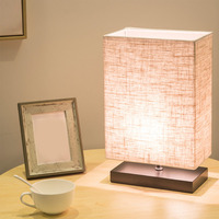 Desk Lamp Linen Wood Wooden Bedside Desk LED Lights Table Lamps For Bedroom Book Lamps Room Lighting Fixture LED Luminaria