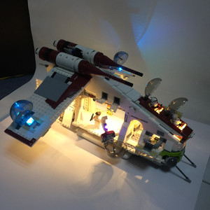 Image 2 - HA CONDOTTO LA luce kit per lego 75021 e 05041 Il Republic Gunship blocchi di costruzione (solo la luce kit incluso)