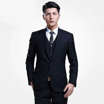 New Costume Homme Custom Made New Business Casual Men Suits Slim Gentelman Wedding In Spring And Autumn (jacket+pants+vest)