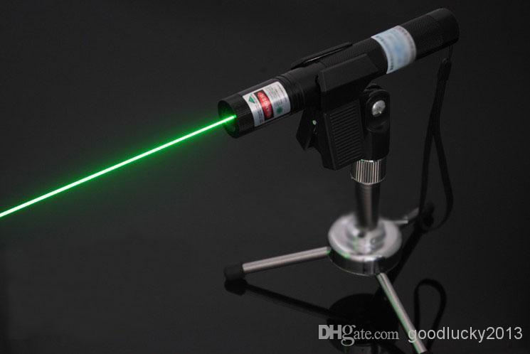 Hot Professional Powerful laser 303 Green Laser Pointer Pen Lazer Light with charger,Retail Box Focus Burning Wood Matchs
