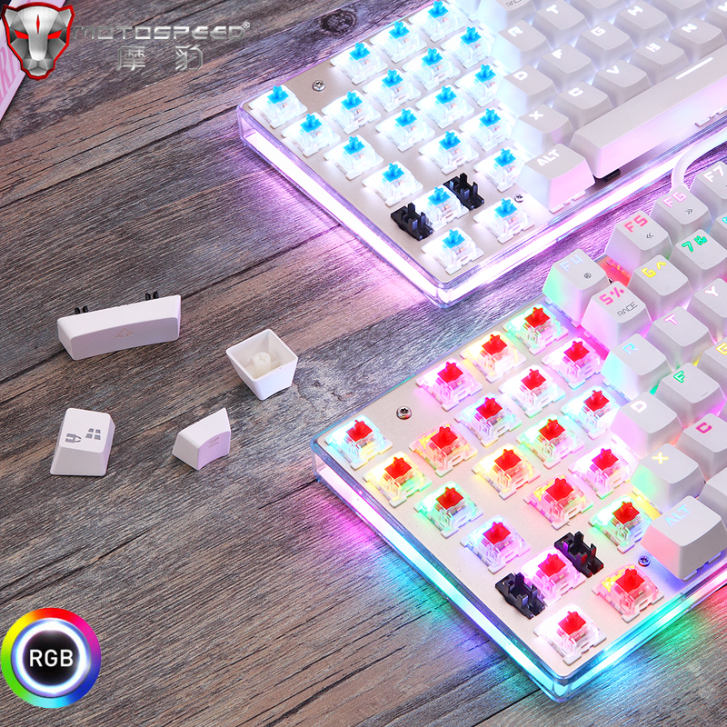 Original Motospeed K87S Gaming Mechanical Keyboard USB Wired 87 keys with RGB Backlight Red/Blue Switch for PC Computer Gamer 5