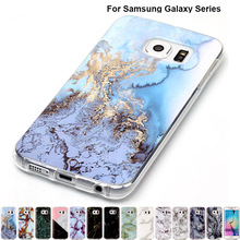 Фотография B02 Marble Soft Tpu Skin Shell Rubber Case For Samsung A3 A5 2017 J3 J5 J7 Prime S8 Plus S7 S6 Edge Grand Silicone Stone Texture