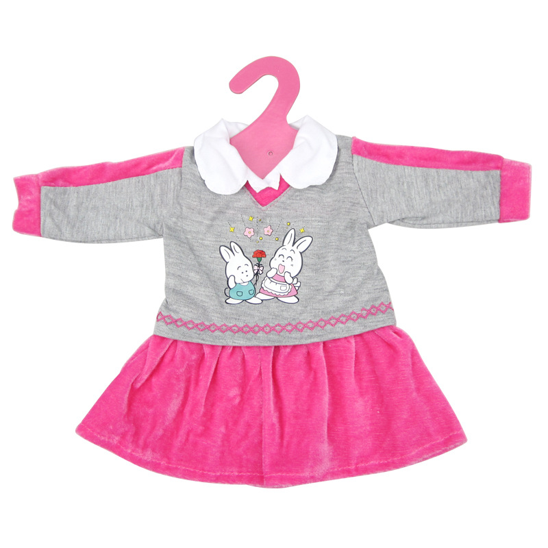 Rabbit Pattern Doll Dress For 18 Inch American Doll & 43 Cm Baby Doll For Our Generation  Girl`s Toy