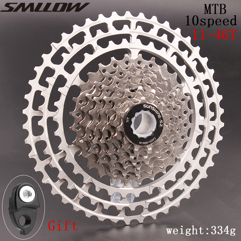 10 <font><b>Speed</b></font> Cassette 11-46T Bike Cassette fit Shimano SRAM Flywheel 11-46 10s Cassette image