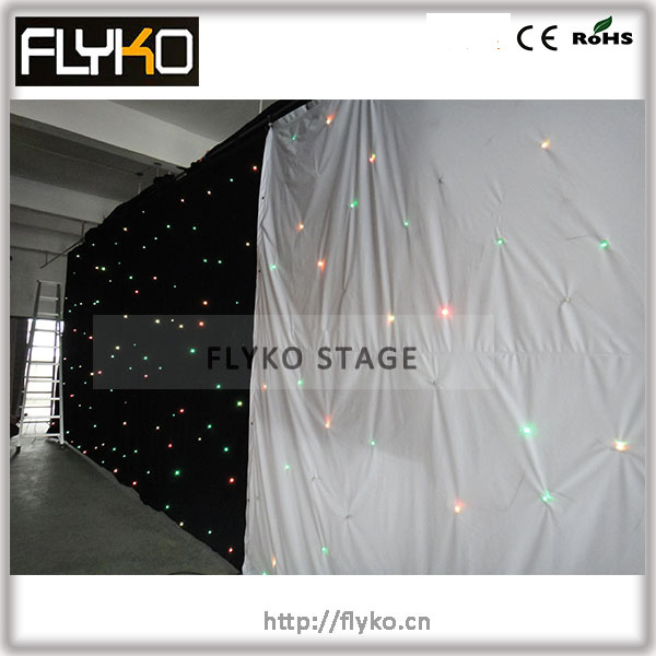free shipping ~! hot sale! multi effect RGB LED star cloth light star curtain|led star cloth|led star curtain|star cloth - title=