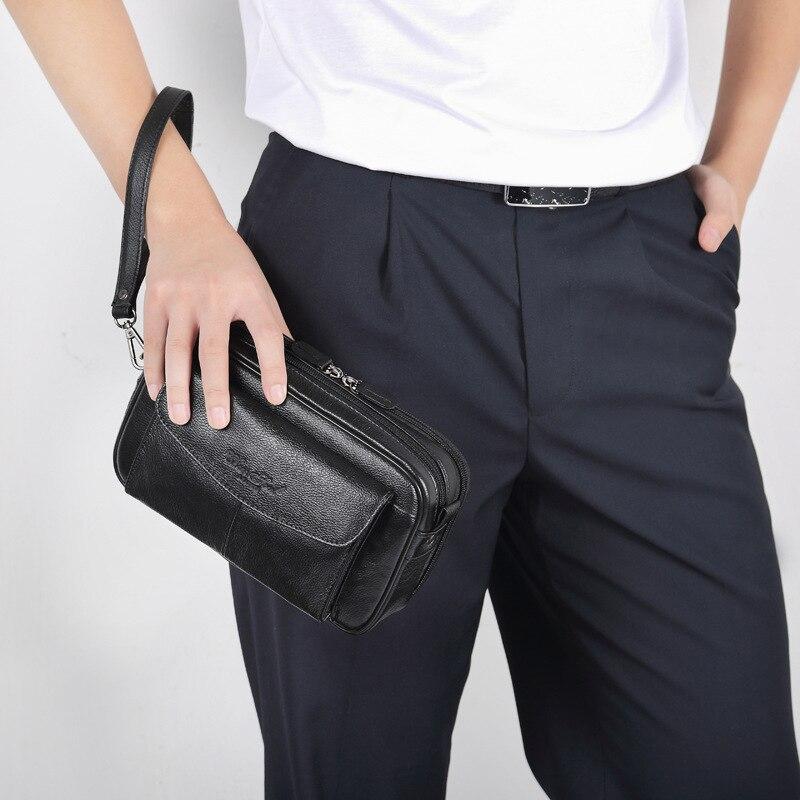 de embreagem bolsa masculina grande moeda bolsa
