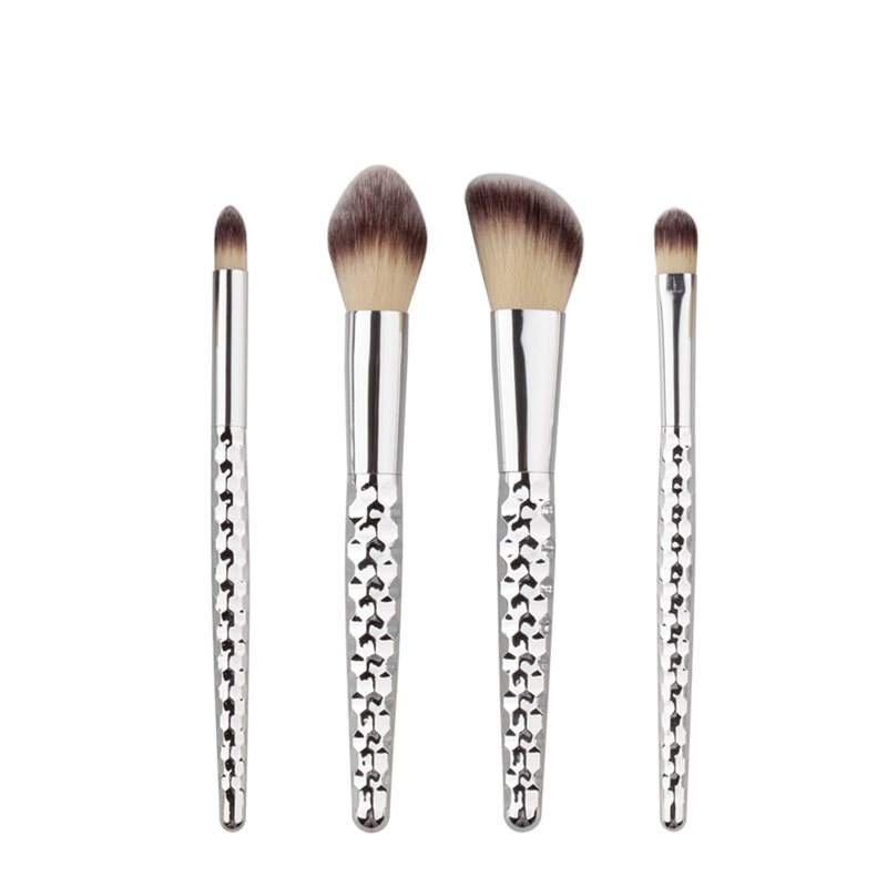 цены на 2017 4 Pcs Silver Handle Makeup Brush Sets Eyebrow Eye Shadow Brushes Tools Nylon Hair Colorful Cosmetic Beauty Face Tools New в интернет-магазинах