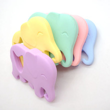 Chenkai 10PCS Silicone Elephant Teether Soft Baby Pacifier BPA Free For DIY Baby/Infant Nursing Chewing Pendant Necklace