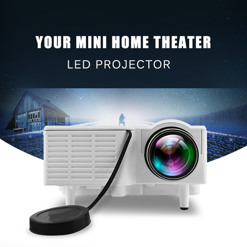 Brand new uc28 portable micro led mini projector hd for Micro mini projector