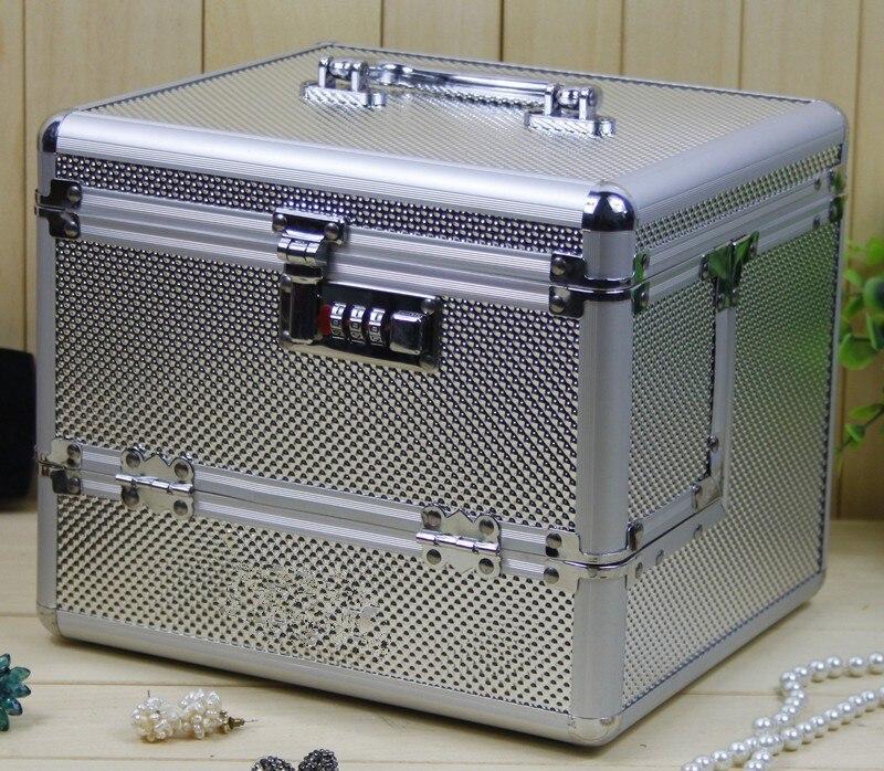 Makeup-Storage Organizer Suitcase Cosmetic-Bags Professional Waterproof Large-Capacity