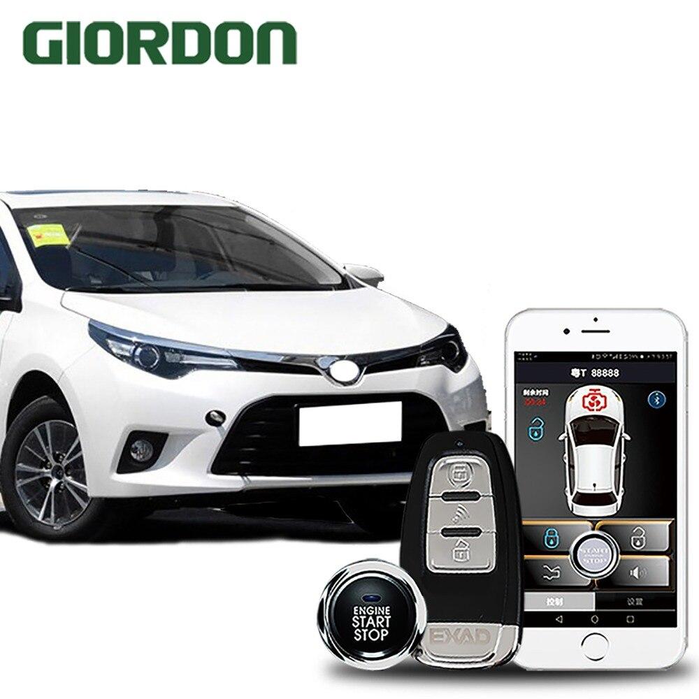 Levin 2014 자동차 액세서리 열쇠가없는 항목 컴포트 시스템 pke 전화 app 원격 시작 자동차 엔진 자동차 알람 푸시 913