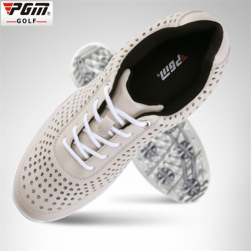 New PGM golf shoes Adult Men Rubber PU EVA Cotton Fabric hole Breathable Massage Lace-Up Beginner brown gray men golf shoes golf arm245 06 r maytoni