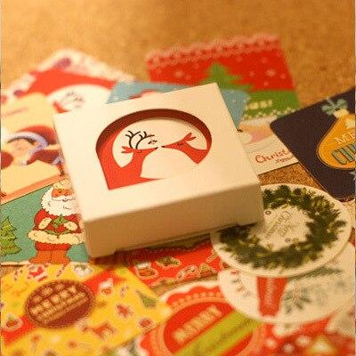 38 pcs/pack Cute Christmas Motif Decorative Sticker Set Diary Album Label Sticker DIY Stationery Sticker Escolar Papelaria va 011 diy decorative abs sticker for car black 2 pcs