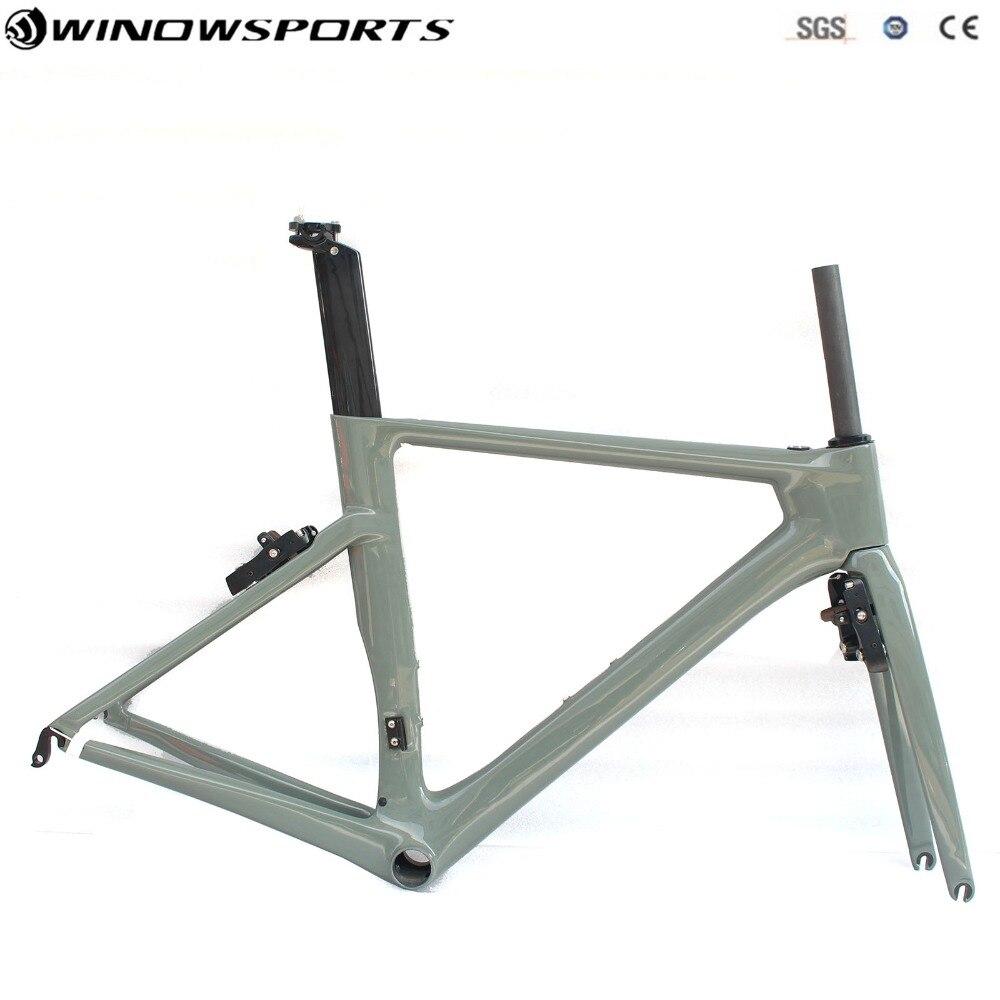 Aero carbon bicycle bike frame XS S M L carbon aero road frame Di2 Carbon Road Bike Frame Super Light Bike