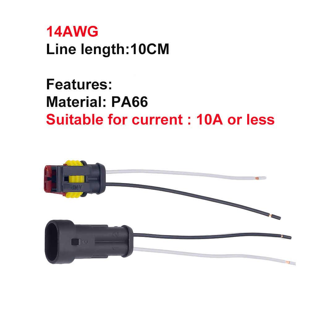 1 2 3 4 5 6 Way 1P 2P 3P 4P 5P 1.5 zestaw Auto złącze męskie i żeńskie wodoodporne wtyczka elektryczna z 14AWG złącze do wiązki kablowej