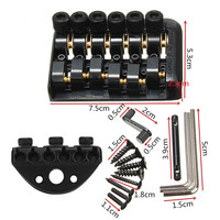 Hot Sale 6 String Saddle Headless Guitar Bridge Tailpiece With Worm Involved String Device High Quality Guitar Parts