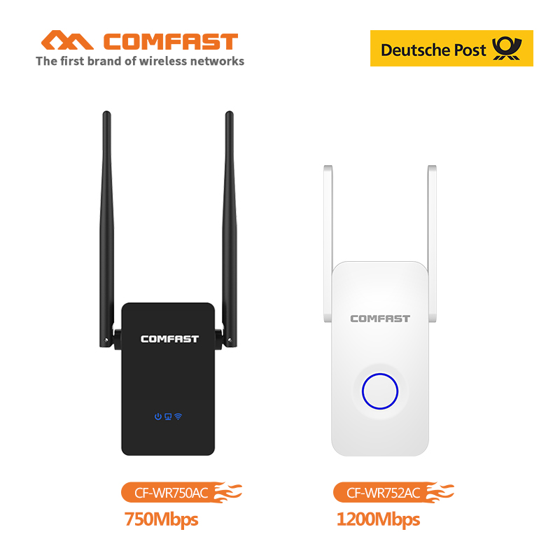 Comfast 750~1200Mbps Dual Band WIFI Repeater 2.4GHz&5GHz 802.11ac Wifi Router With Dual Antenna WI FI AP Signal Amplifer Booster