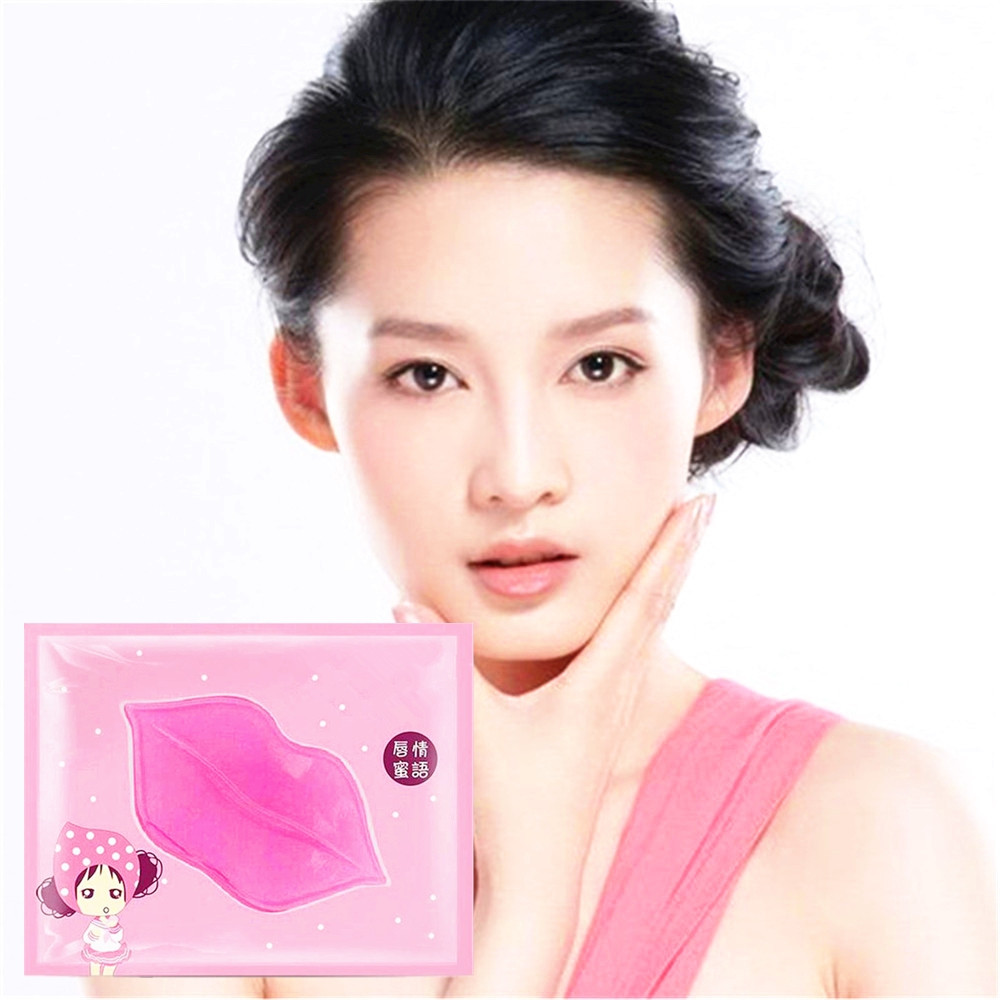Lip Pump Gold Collagen Lip Mask Moisture Essence Anti Ageing Wrinkle Patch 1 Bag Love Thanks