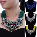 Fashion Resin Beed Acrylic Jewelry Chian Handmade Choker Statement Bib Necklace
